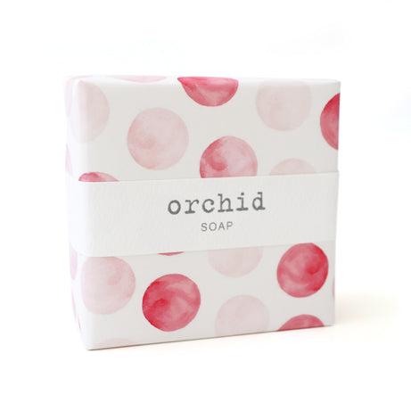 Signature Wrapped Soap - Orchid Spots