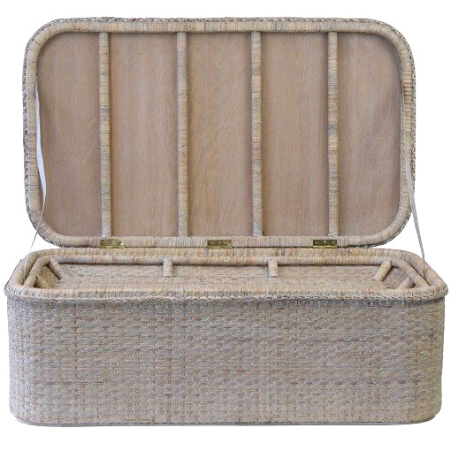 Rattan rectangle chest