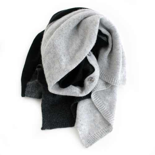 Cashmere Topper - Grey Black