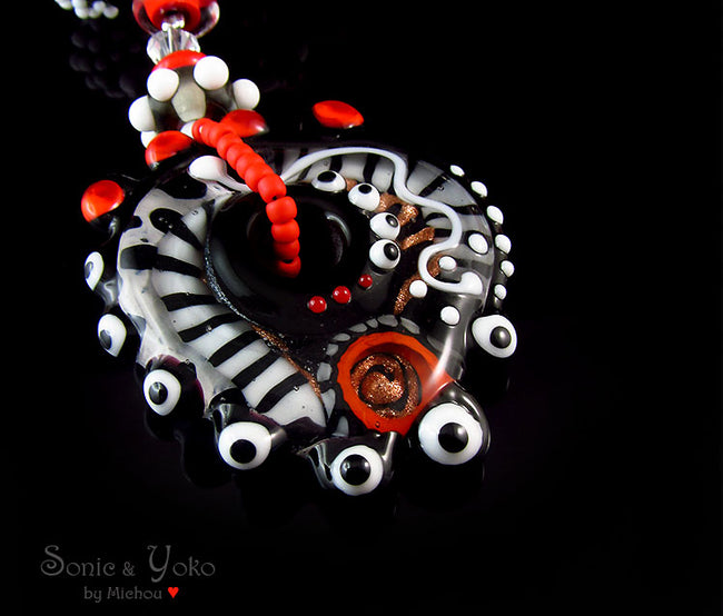 Afria - Boho Chic - Lampwork Necklace