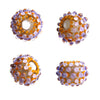 Lavender Dots ♥ Hancdrafted Lampwork bead, round, big hole bead (1)