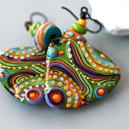 Made to Order  ♥ Kalea - Boho Chic - Handmade Torch fired Copper Art Earrings