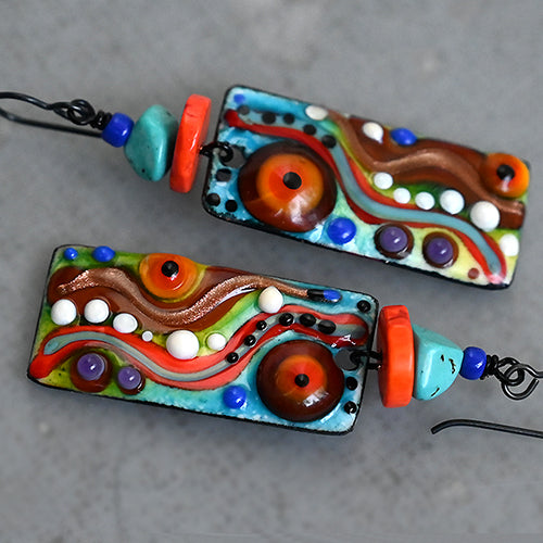 Morocco ♥ Multicolored Boho Chic lightweight Earrings