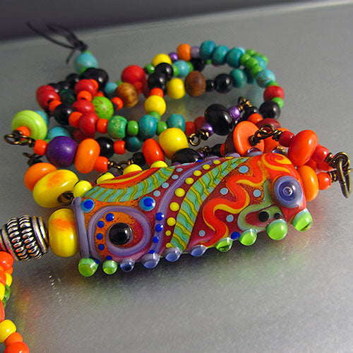 MOROCCO - MURANO GLASS - LAMPWORK NECKLACE/HALSKETTE