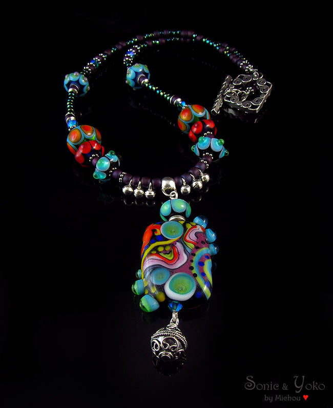 CLOPATRA - LAMPWORK NECKLACE