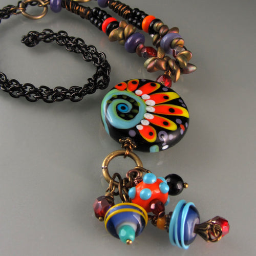 Hip Chic - Lampwork Necklace