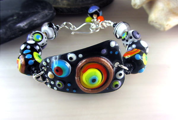 Bright Light ♥ Copper Art lampwork Bracelet