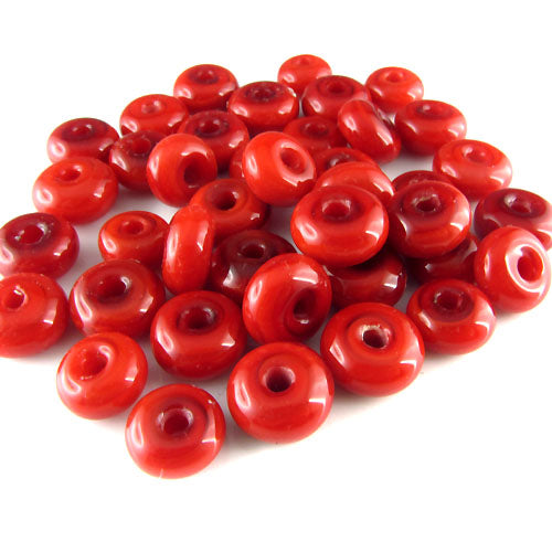 Red Chilly ♥ 25 lampwork spacer beads ♥ Handmade