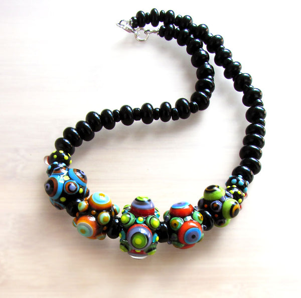 Bubble dots from out of Space ♥ Handcrafted Lampwork Necklace