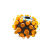 Honey Gold - Handcrafted Lampwork bead, round, big hole bead (1)