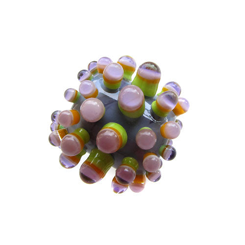 Dots ♥ Handcrafted Lampwork bead, round, big hole bead (1)