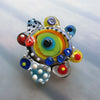 Color Pop Oyster ♥ 1 handcrafted Lampwork Focal bead