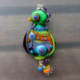 Crazy Chicken ♥ Handcrafted Lampwork/Pendant