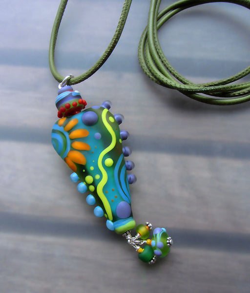 Humming Bird ♥ Handcrafted Lampwork Necklace