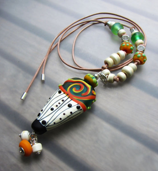 The Face - Handcrafted Lampwork Necklace