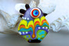 Crazy Chicken -Handcrafted Lampwork Bead