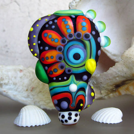 Pop Art Lampwork Dog ♥ including Michou Anderson´s Signature