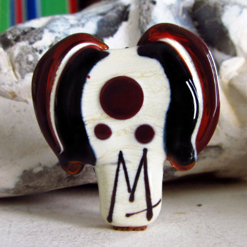 """Pop Art Lampwork Dog "" ( including Michou Anderson´s signature)"