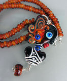 African Woman ♥ Handcrafted Lampwork Necklace by the Artist Michou P. Anderson