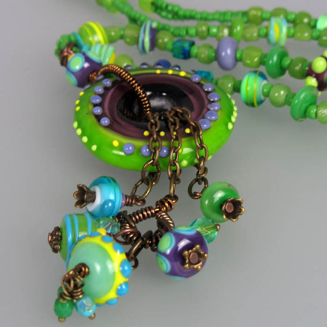Boho Queen ♥ Boho Chic, Lampwork Necklace