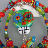 Sugar Skull ♥ Handcrafted Lampwork Necklace