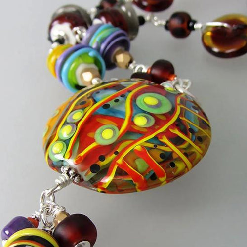 Mother Earth ♥ Lampwork Necklace made by Michou