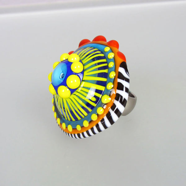 Lampwork Cabochon ♥ interchangeable jewelry topper