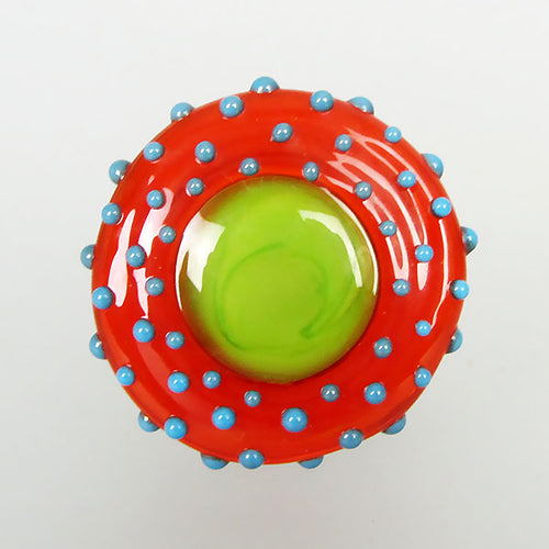 Hip Chic ♥ Lampwork Cabochon - interchangeable jewelry topper