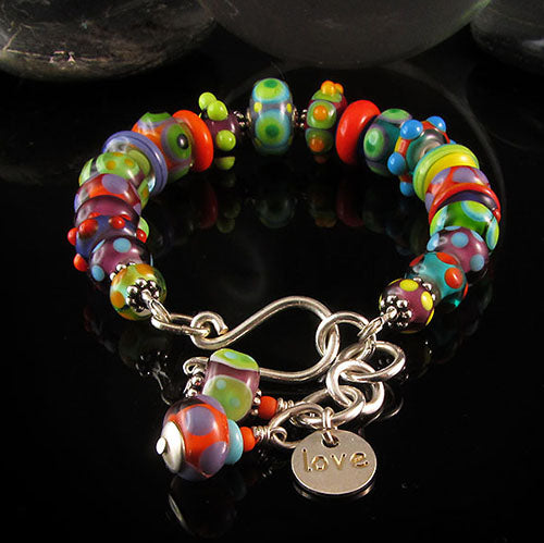Sassy & Cute - Handcrafted lampwork Bracelet