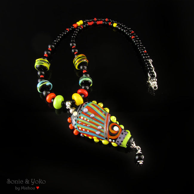 Mexico - Lampwork pendant/necklace
