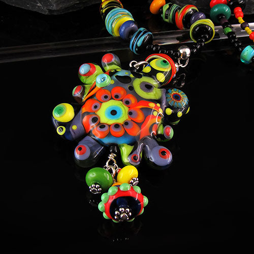 Color Pop Oyster 36 - Lampwork Pendant/Necklace