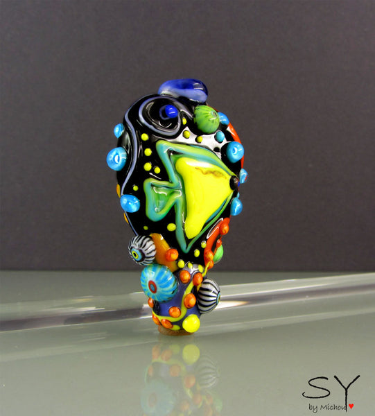 Ocean World - Statement Lampwork Focal Bead