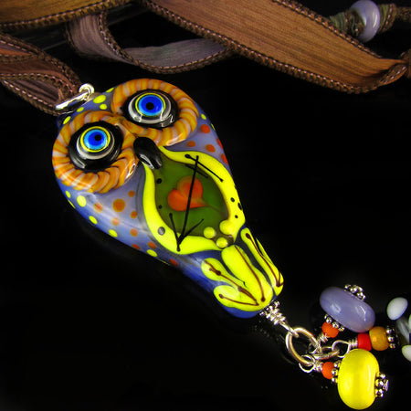 Hummingbird Tropicana - Lampwork Necklace