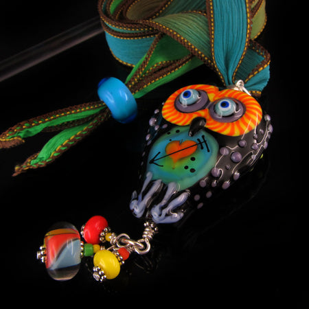 Sugar Skull - Lampwork Pendant/Necklace
