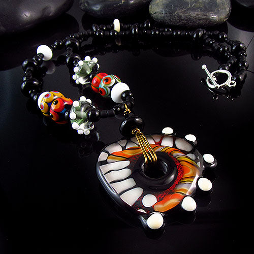 Africa - Lampwork Necklace