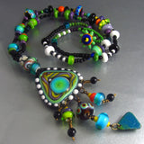LAGOONA BLUE - BOHO CHIC LAMPWORK PENDANT NECKLACE