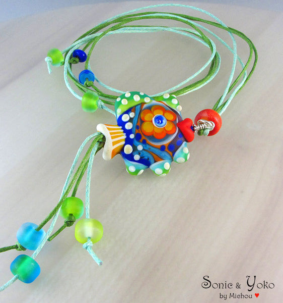 FISH LAMPWORK - PENDANT/ NECKLACE