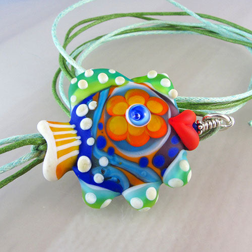Flower Power - Lampwork Pendant/Necklace