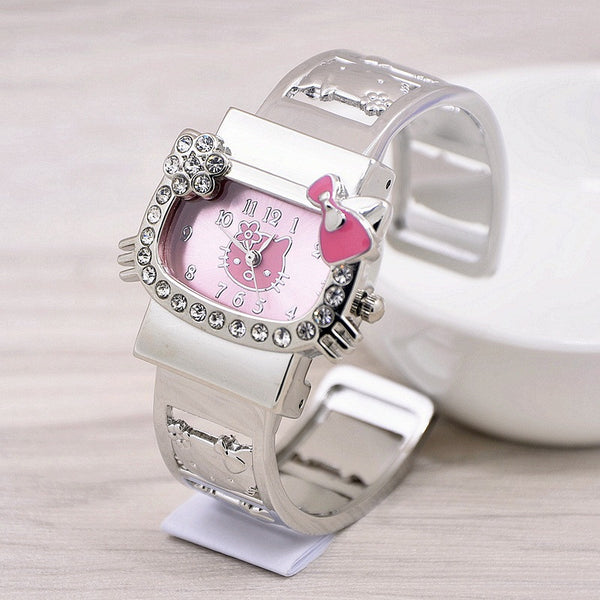 wrist watch - Fashion accessories ,clothing, jewelry, 2016 New Hello Kitty Cute Cartoon Quartz Watch For Women Children Girls Baby Full Alloy Wrist Watch Relogio Feminino Hodinky - clothing, Gorgeous things online - gorgeous things online