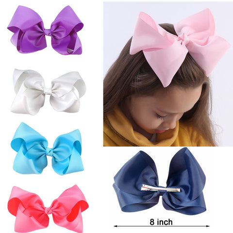 hair accessory - Fashion accessories ,clothing, jewelry, 10 pcs/lot 3 inch Grosgrain Ribbon 8 inch Big Hair Bow Boutique Hair Bow For Girls Hair Bow With Clip ZH10-14022015 - clothing, Gorgeous things online - gorgeous things online