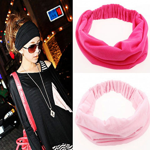1pcs Wide Cotton Stretch Elastic Sport Beauty Hair Wash Headband Hair Accessories Turban Headwear Bandage Head Hair Band