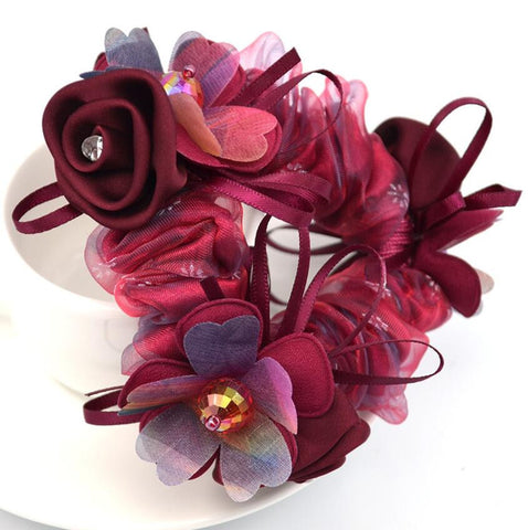 hair accessory - Fashion accessories ,clothing, jewelry, 1Piece Hair Accessories for girl & women high elastic floral Hair Rope Super Elastic Headbands Ponytail Scrunchie high quality - clothing, Gorgeous things online - gorgeous things online