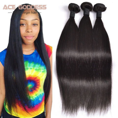 7A Peruvian Virgin Hair Straight Human Hair 3 Bundles Peruvian Straight Virgin Hair Unprocessed Virgin Peruvian Straight Hair