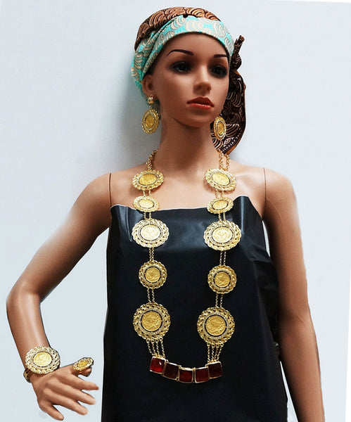 new arrival  gold plated big  jewelry sets fine wedding  jewelry sets african women big necklace
