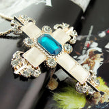 Necklaces For Women Cross Shape Crystal Trendy European And American On The Neck Party Jewelry Accessories Women Necklace