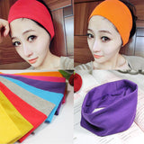 Fashion style lady cotton absorb sweat yoga elastic headband popular women candy color sport hair band headband