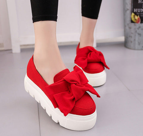 flat - Fashion accessories ,clothing, jewelry, 2016 autumn NEW women shoes bowtie muffin heavy-bottomed Platformquality Women Flats fashion loafers women casual ShoesALF221 - clothing, Gorgeous things online - gorgeous things online