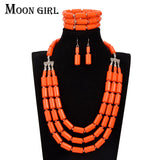 6 color african beads jewelry set Nigeria wedding bridal choker 2017 statement fashion maxi necklace set for women