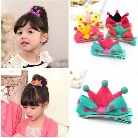 1Pcs Cute Kids Children Dot Tiara Crown Hairpins Hair Clip Barrette Christmas Gift Hair Pins Headband Hair Accessories