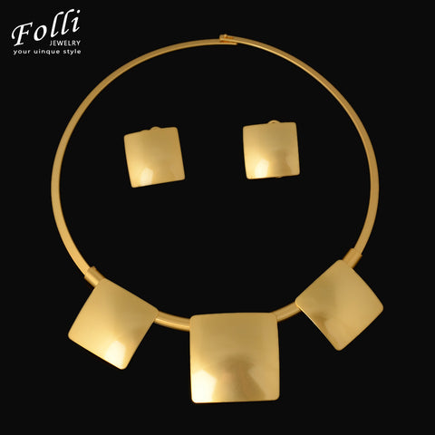 2016 New  Fine Dubai African Design  Fashion Costume Earring Necklace Set Find Gold Plated Jewelry  Sets Gorgeous